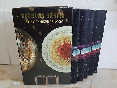 Hitchhikers Guide To The Galaxy Trilogy 5 Book Set Douglas Adams