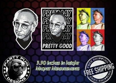 Curb Your Enthusiasm Larry David Magnets! Set Of 3! LAST ONES!!!