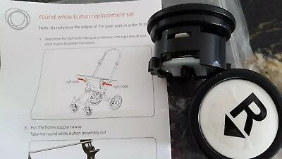 bugaboo repair set cameleon 1 and 2 round white button replacement set new