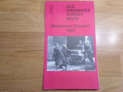 Old Ordnance Survey Maps The Godfrey Edition Manchester (Clayton) 1932