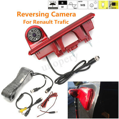 Rear View Reverse Camera 3RD Brake Light For Renault Trafic Vauxhall Vivaro Opel