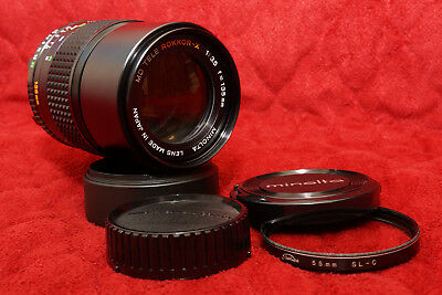 Minolta MD 135mm f3.5 Tele Rokkor-X ø55 Filter Thread Lens Very Good Condition