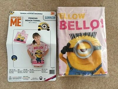 Despicable Me Beach Towel Poncho Minions 100% Cotton 60x120 cm
