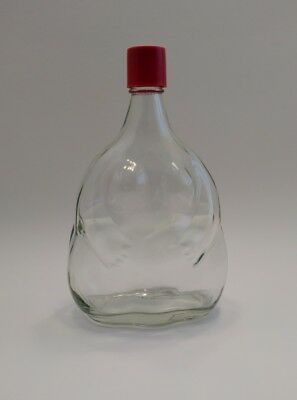 Maure Vieil Robust Nude Woman Clear Glass Bottle Red Cap Vintage OOAK