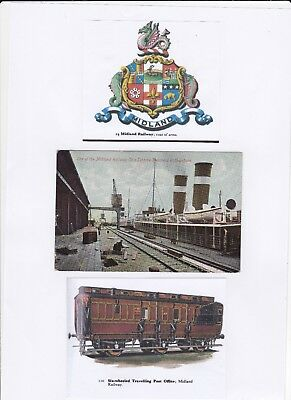 Great Britain 1908 P Postcard Midland Railway Steamer At Heysham