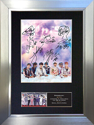 BTS No2 Signed Autograph Mounted Photo Repro A4 Print 760