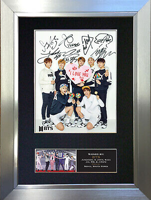 BTS No3 Signed Autograph Mounted Photo Repro A4 Print 761