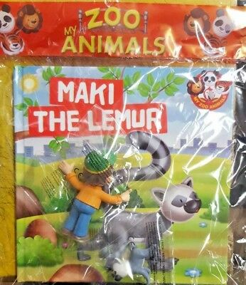 My Zoo Animals = Figurines And Books Collection = # 25 = Maki The Lemur