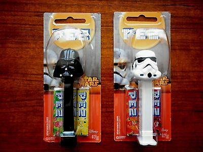 Star Wars Pez Lot Of 2  Storm Trooper & Darth Vader New And Sealed