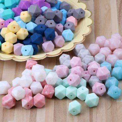 10Pcs Silicone Beads Baby Teething Teether Bead Baby Toys DIY Pacifier Accessory