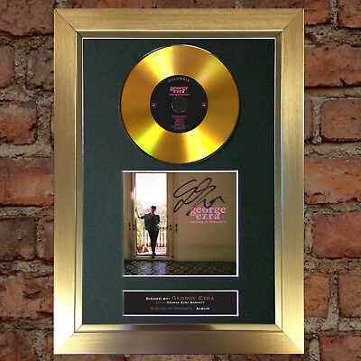 GOLD DISC GEORGE EZRA Staying At Tamaras Signed Autograph Mounted Print A4 171