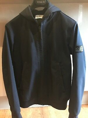 Boys Stone Island Navy Soft Shell Jacket Age 14