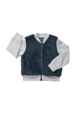 Bonds Baby Fuzzy Bomber Zip Up Jacket sizes 000 0 1 3 5 Harpoon Grey