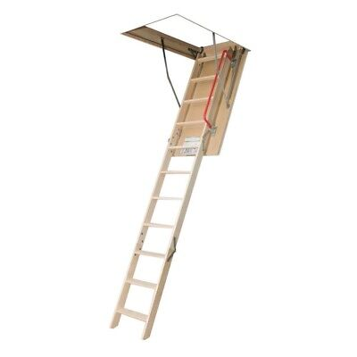 Fakro Attic Ladder 8 ft 11 in Insulated Wood 300 lb Load Capacity 11 Steps
