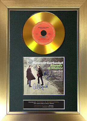 GOLD DISC SIMON & GARFUNKEL Sounds of Silence Signed Autograph Mounted Print 163