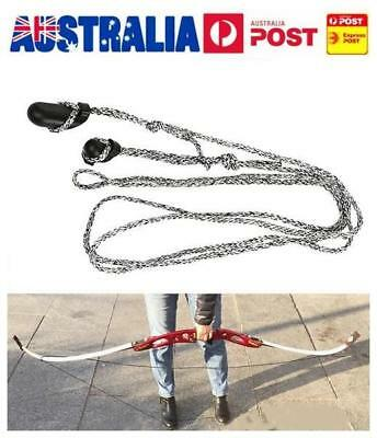 Archery Bowstringer Traditional Recurve Bow Stringer String Install Rope Long AU