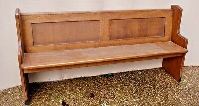 Lovely Antique Solid Oak Church Chapel Pew Bench Seat Sttle Ideal Home Cafe 66""
