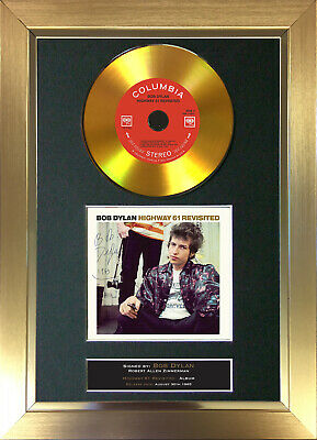GOLD DISC BOB DYLAN Highway 61 Revisited Signed Autograph Mounted Print A4 143