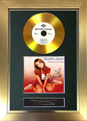 GOLD DISC BRITNEY SPEARS Baby One More Time Signed Autograph Mounted Print 139