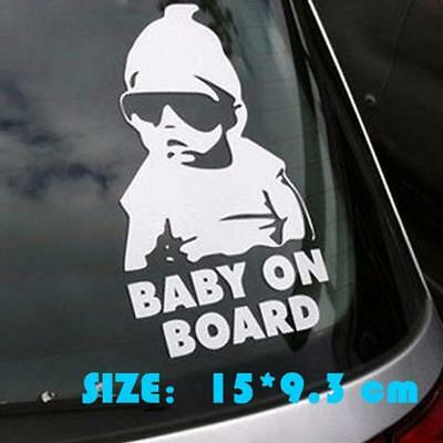 Baby On Board Funny Car Child Children Window Bumper Sticker Vinyl Decal Safety