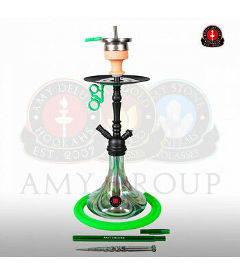 Amy Deluxe Shisha Middle Globe Rainbow - green - RS black powder | Wasserpfeife