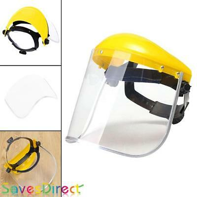 Clear Flip Up PVC Yellow Visor Mask Metal Casting Chemical Paint Gardening