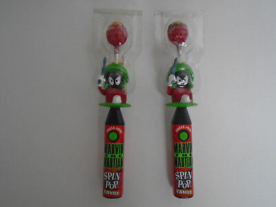 Lot Of 2  1996  Looney  Marvin  The  Martian  Spin  Pops  Looney  Tunes