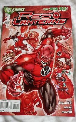 DC Comics Red Lantern Comic #1 First Edition The New 52.