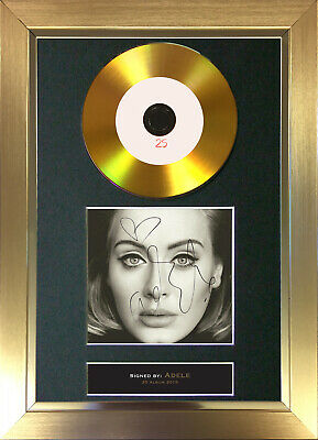 GOLD DISC ADELE 25 Signed Autograph Mounted Print A4 117
