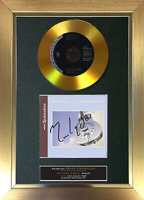 GOLD DISC DIRE STRAITS Brothers in Arms Signed Autograph Mounted Print A4 107