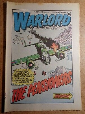 Warlord Comic No.337 7th March 1981 D.C. Thomson War Action British