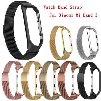 Milanese Magnetic Stainless Steel Watchband Strap For Xiaomi Mi Band 3 Wrist Hot