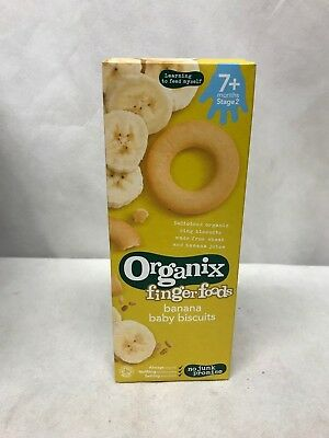 Organix Banana Baby Ring Biscuits 54g x5 CLEARANCE BBE- 9th September 2018