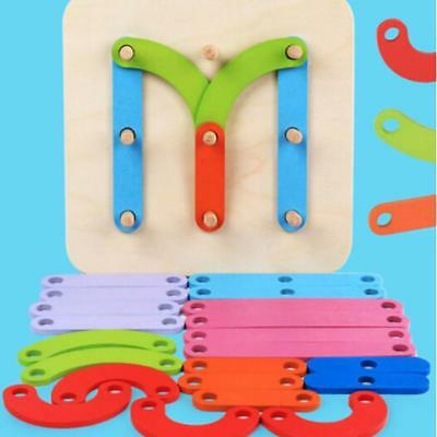 Children's Kids Puzzle Toys Learning Wooden Abc Letters Alphabet Numbers Lh