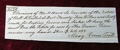 Slave Document 1858 Washington County Virginia For The Keeping of James & Isabel
