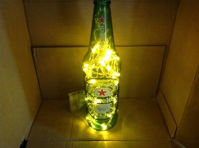 Heineken Handmade 24oz Lighted Beer Bottle - Heineken Decor - Free Ship