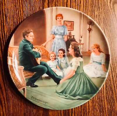 """The Sound Of Music """"EDELWEISS"""" Knowles Collector's Plate - (Numbered w/ COA)"""