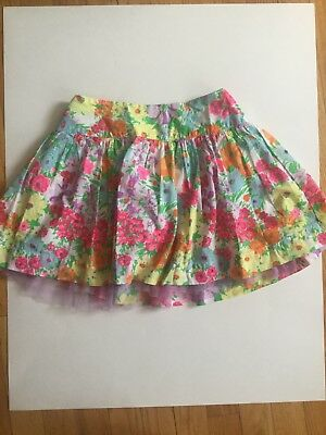Justice Size 8 Girls mini skirt multicolor floral