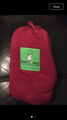 'kari-me' red baby sling in very good condition