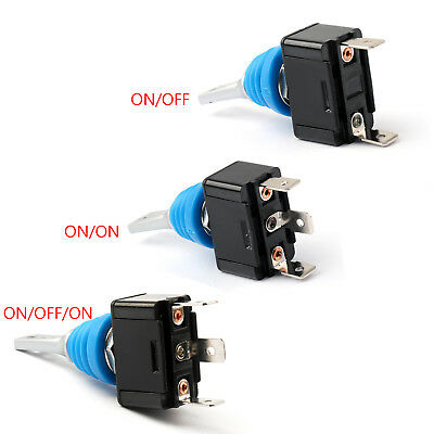 Waterproof Toggle Switch 12mm ON/OFF/ON SPDT SPST 2PIN 3PIN 10A/125V AC For Car