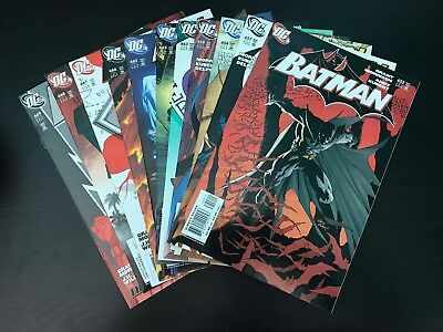 Batman #655-658 + #663-669 *Includes 656 1st full Damian Wayne* Complete Set Lot