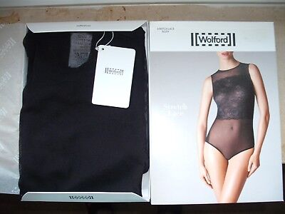 Wolford Stretch Lace Body , Black und Large.