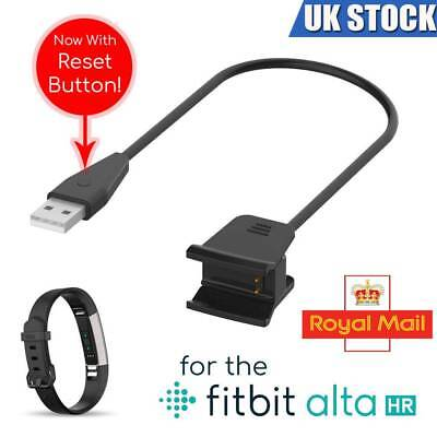 USB Cable Charger Lead Charging for FitBit Alta HR Wristband With Reset Button
