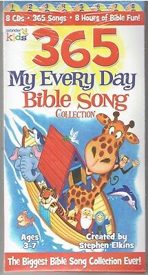 MY EVERY DAY BIBLE SONG COLLECTION 365 Songs Wonder Kids 2007 8 CD Box Set