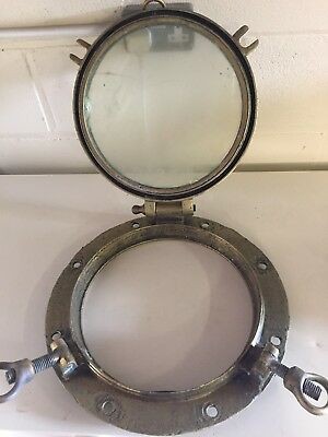 vintage brass porthole late 19th or early 20th Century recovered from Irish Sea