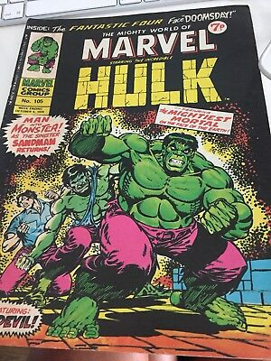 The Mighty World of Marvel #105 | The Incredible Hulk | Marvel Comics UK | 1974