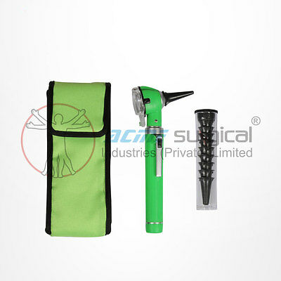 Fiber Optic Otoscope Mini Pocket Medical Ent Diagnostic Green Set Ce