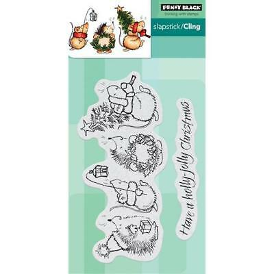 Penny Black Cling Stamps - Holly Jolly Critters 40-657