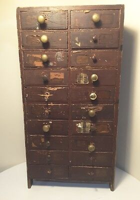 Vintage Tools Watch Makers Cabinet  / Horological/ Jewellers  Craft Box Sep Prop