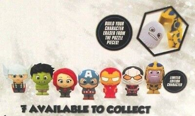 Marvel Avengers Puzzle Palz Character Eraser Figures  - Series 1